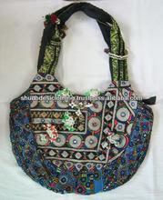 DESIGNER VINTAGE Handbag BANJARA embroider Shopping Bag