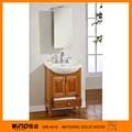 Antigo de madeira de borracha de chão do banheiro armário da vaidade