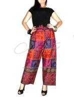Ladies Thai Cotton Styles Mixed pattern S-XL wide leg ,Drop Crotch pants
