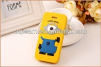 For iPhone 4 4s 3D Despicable Me Flip Silicone Cover