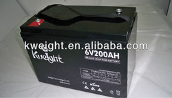 6 V Sealed AGM Solar battery cells 200Ah