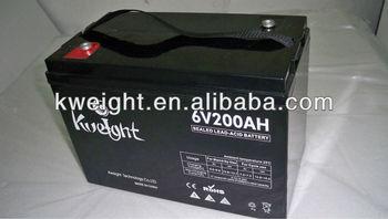 6 V Sealed AGM Solar battery cells 200Ah