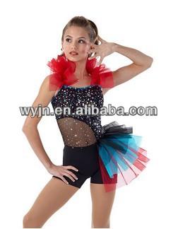 2014- -teen sequin mesh dance Jazz Dance Costumes For Teenagers
