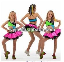 2014- -girl team colorful dance jazz costume - dashing women sequin jazzdance skirt wear -child&adult kid cute dance skirt