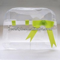 Hot sale clear eva plastic bag cello bottom beachwear bikini