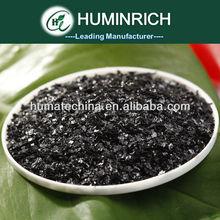 100% Fast Soluble Potassium Humate Shiny Flakes Humic Acid Growth Regulator