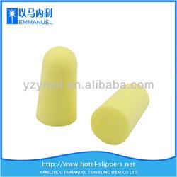 Yellow elastic PU anti-noise ear plugs uk