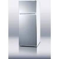 "Summit Refrigeration FF1062WSS 24"" Refrigerator w/ Freezer, Door Stora"