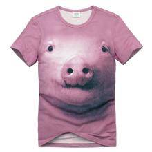Cute Pink Pig 3D Animal T Shirts/Men's 3D T Shirts