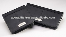 ADACD - 0034 portable cd dvd case / customized cd bag manufacturer / leather dvd storage bags