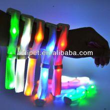 LED flashing colorful safety wristband mouse pad