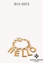 High quality friendship with alloy chain bracelet Happy Bracelet