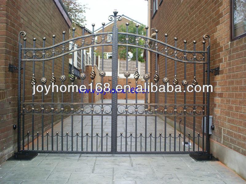 Wrought iron pipe main gate designs, View wrought iron main gate ...