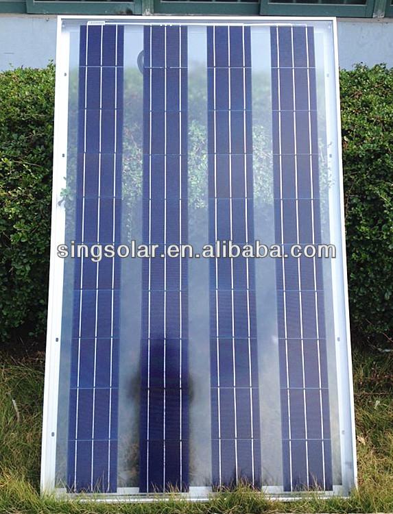 customized extraordinary 165w price per watt solar panels