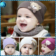 2013 korean style cheap cute baby funky knitted cotton hat