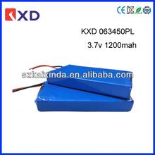 KXD rehargeable digital video camera battery 3.7v 1200mah