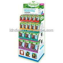 plant seed cardboard paper display floor stand rack