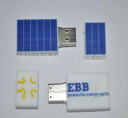 Promo Gift PVC Solar Technik Panel USB Flash Drive 8GB with Custom Logo