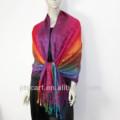 Bordado a mano de cachemira mantón de la última tsv-038 50% viscose+50% de acrílico multicolor bufanda pamshmina