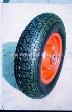 13 inch pneumatic rubber wheel with wheel rim 3.50-7