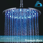 Large Chrome Brass & 304SUS round led overhead shower