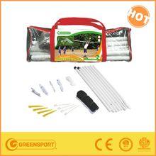Portable beach volleyball tennis net