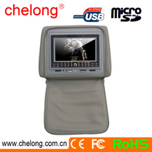 New arrived easy installation 7 inch AV input and output car headrest dvd player