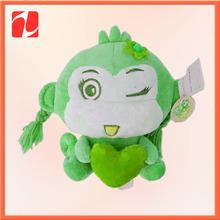 Hot Sale High Quality Soft Cuddly Stuffed custom logo printed promotional plush toy monkey