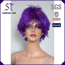 Long FASHION straight purple Anime Lolita Bob cosplay party GIRL HAIR wig