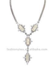 2014 Newest Arrival Trendy Luxury Fashion Metal Sparkle Flower Resin Bib Statement Necklace Collar