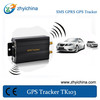 Power off alarm sim card gps tracker with tracking software TK103A with SD card, USB cable,shock sensor and IMEI