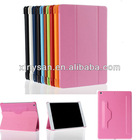 High Quality smart leather case for apple ipad air with back holder,smart wake/sleep cover case for ipad5