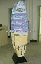 Cardboard hook floor display for retail promotion