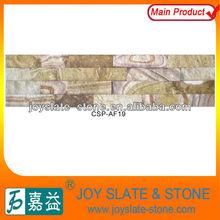 Fashionable style culture veneers yellow ledge stone wall tile