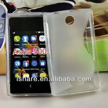 S line translucent TPU gel silicone case for Nokia Asha 500 case