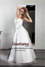 tecidos para vestido de noiva High quality silk organza wholesale flower sash a line wedding dress