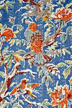 Buy Kantha Throw Bird Of Paradise Navy Blue