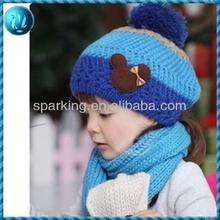 Fashion knitting pattern earflap hat for children