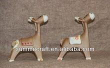 Creative ceramic donkey figurine model set
