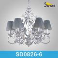 6 luzes moderna flores grandes fabricantes de peças para lustres