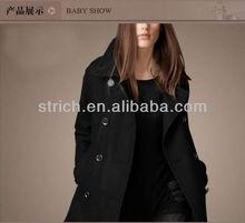 Winter 2013 new European and American women's Slim wool double-breasted woolen coat lapel temperament /ladies long coats