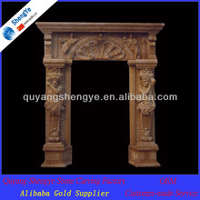 hand carving natural stone door frame (customized accept )