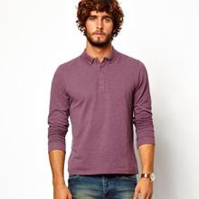 mens purple long sleeve polo shirt