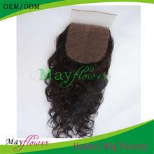 Indian hair silk lace front closure natural curl freestyle dark brown/medium brown skin for salon women