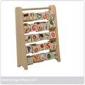 Jirafa de madera abacus, juguetes de matemáticas, los niños de madera juguetes abacus py1012