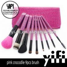 Professional! Miss Yifi Pink 9pcs makeup brushesfive piece set brush
