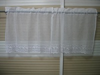 Christmas Fabric Colorful Lace Kitchen Curtains