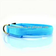 2014 fashionable design high end durable wholesale nylon webbing coated pvc dog collar for big or little pet manufacturer