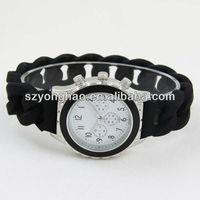 Elegant Design Bracelet Silicone Watches Ladies 2013 shenzhen manufacture