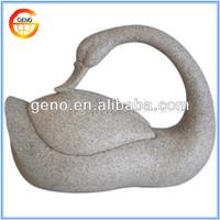 Elegant Garden And Home Stone Finish Resin Decorative Swans